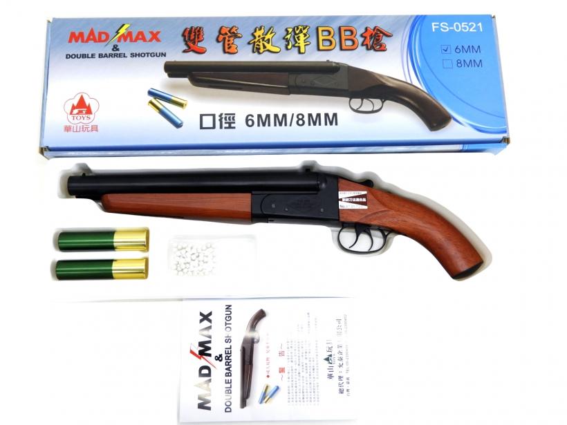 [華山] MAD MAX ダブルバレル・ショットガン ショートバレル フルメタル・リアルウッド JP ver. 【新仕様】/[新品]/新品です。/ガスガン