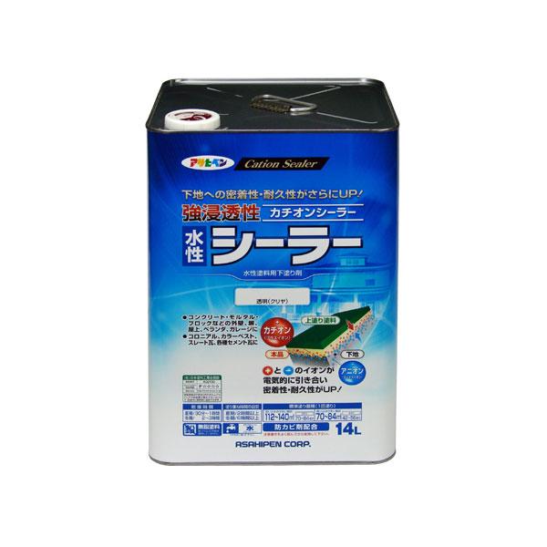 アサヒペン 強浸透性水性シーラー 14L (透明 (クリヤ)) AP9016873 4970925458193