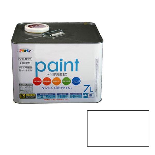 アサヒペン 水性多用途EX 7L (白) AP9017359 4970925459916