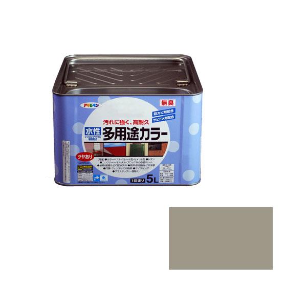 アサヒペン 水性多用途カラー 5L (ライトグレー) AP9016658 4970925461797
