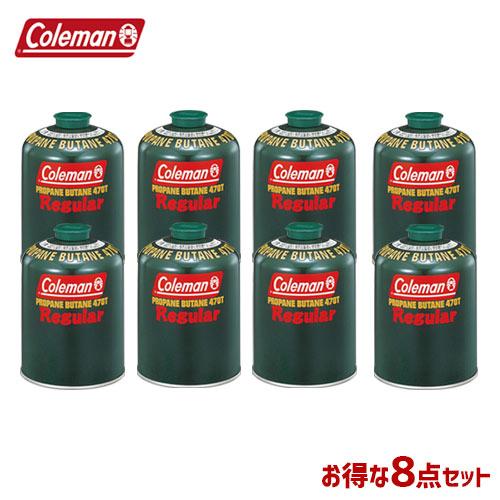 CM 5103A470T [8個セット!まとめ買い] 純正LPガス燃料[Tタイプ]470g 〔コールマン/Coleman〕