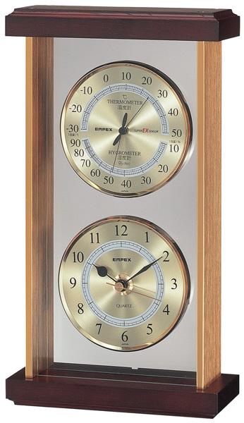 EMPEX EX-742 スーパーEX Preseed スーパーEX温・湿度・時計 〔エンペックス気象計〕