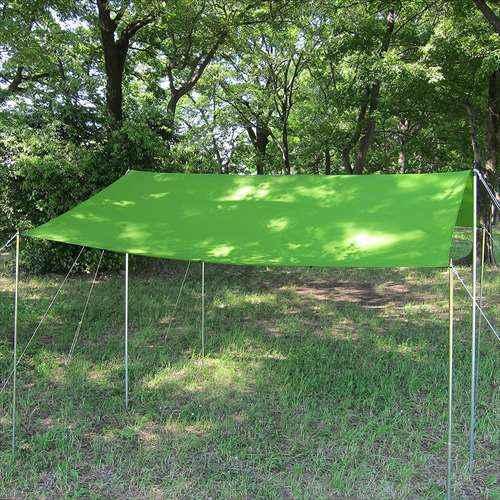 [イスカ/ISUKA]キャンプ タープ オープンエア ウルトラライトタープ グリーン 209602