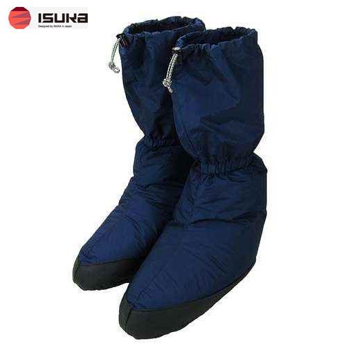 [イスカ/ISUKA]靴下 ソックス ダウンプラス テントシューズ ロング L ネイビーブルー 223121