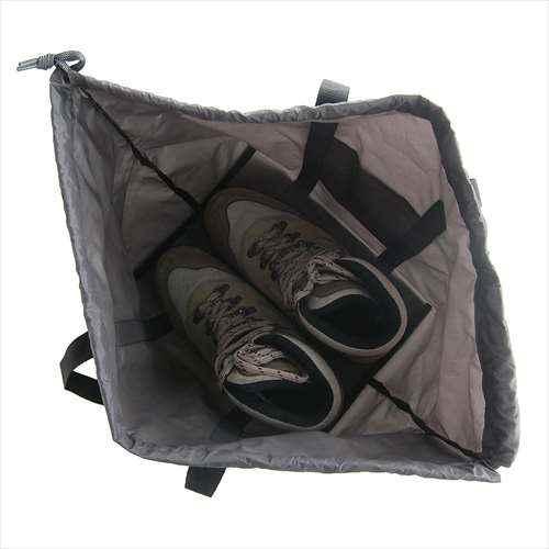 [イスカ/ISUKA]収納ケース 防水 靴用 トレッキングシューズ用 ブーツケース グレー 345522