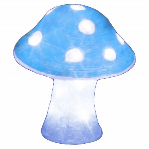 【エントリーで+P5倍】ジェフコム LEDクリスタルモチーフ キノコ[中]白・青 STM-F10WB-MA