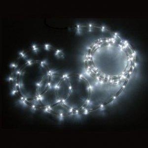 【SS】ジェフコム 屋外用 LEDソフトネオン 長さ: 64m 75mmピッチ 白×白 PR3L-E24-64WW