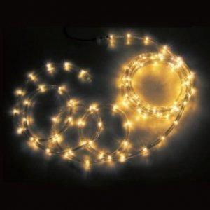【SS】ジェフコム 屋外用 LEDソフトネオン 長さ: 8m 75mmピッチ 黄×黄 PR3L-E24-08YY