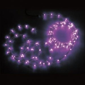 【SS】ジェフコム 屋外用 LEDソフトネオン 長さ: 4m 75mmピッチ ピンク×ピンク PR3L-E24-04PP