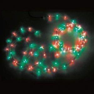 【エントリーで+P5倍】ジェフコム 屋外用 LEDソフトネオン 長さ: 16m 75mmピッチ 赤×緑 PR3L-E24-16RG