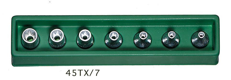 45TX/7 [3/8SQ]ヘクスローブソケットセット [96022702] 3/8″SQヘクスローブソケットセット[E型][喜一工具]