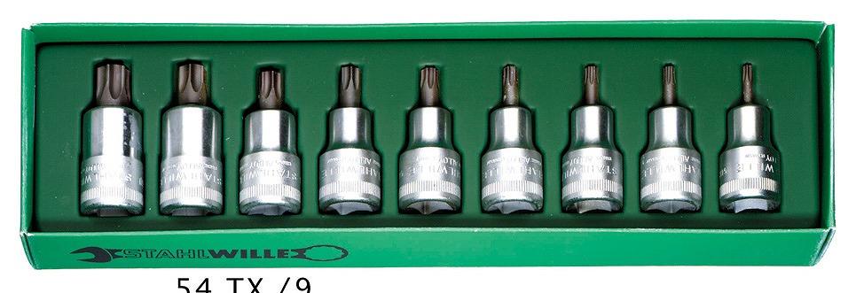 54TX/9 [1/2SQ]ヘクスローブソケットセット [96031004] 1/2″SQヘクスローブビットソケットセット[喜一工具]