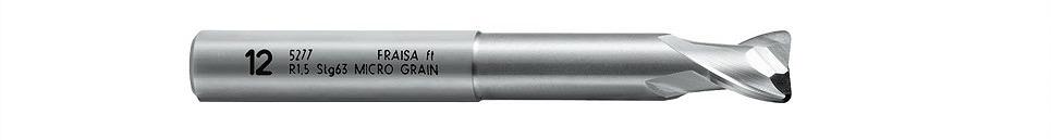 C5277-10 超硬アルミ用コーナーRセレロ ロング[C5277450 銅・アルミ用超硬ラジアス2枚刃エンドミル ロングネック[喜一工具]