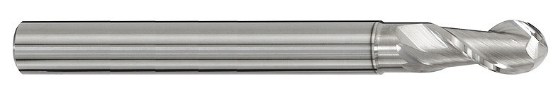 C5292-4 超硬アルミボールエンドミルセレロ[C5292220] 銅・アルミ用超硬ボール2枚刃エンドミル[喜一工具]