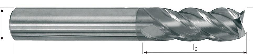 D5227.501 超硬荒加工用エンドミル 12X26X83X12 超硬荒加工用エンドミル[喜一工具]