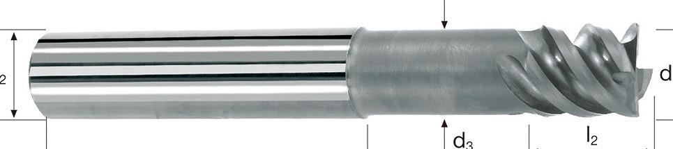 P5218.610 超硬荒加工用エンドミル 16X17X92X16 超硬荒加工用エンドミル[喜一工具]