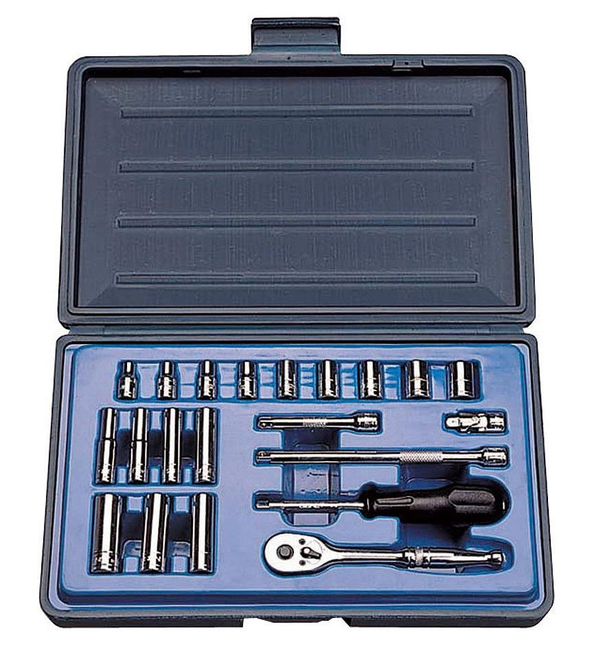 11621 1/4DR 21PC インチ ソケットレンチセット 1/4″SQソケットレンチセット[喜一工具]