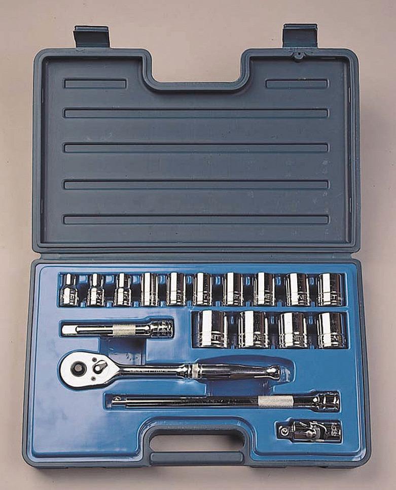 13618 1/2DR 18PC インチ ソケットレンチセット 1/2″SQソケットレンチセット[喜一工具]