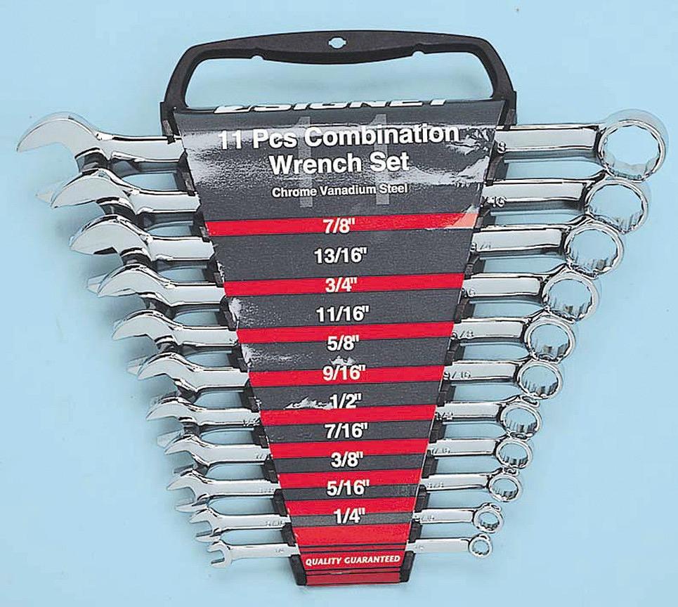30621 11PC コンビネーションレンチセット インチ コンビネーションレンチセット[11本組][喜一工具]