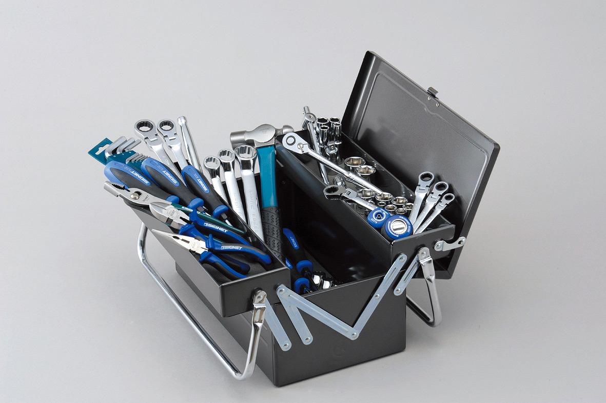 【クーポン利用で10%OFF!】800S-346DO メカニックツールセット両開き 9.5SQ [喜一工具]