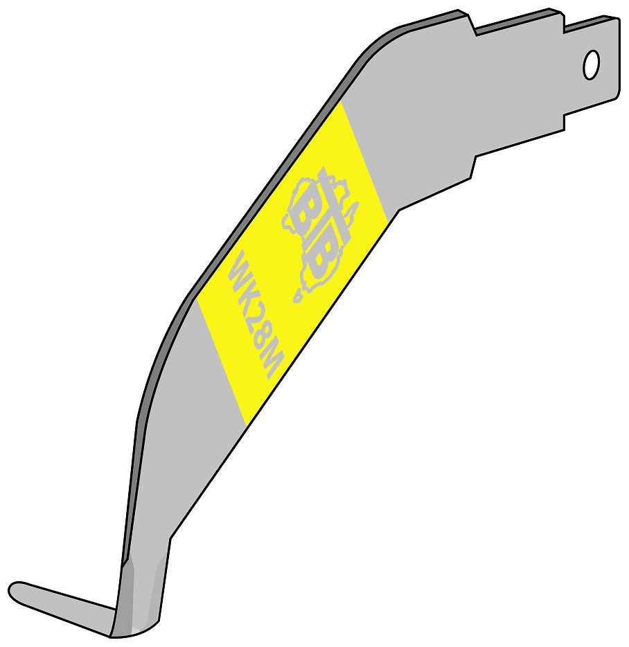 WK28 右外側カッティングブレード [WK28M] 右外側カッティングブレード[喜一工具]