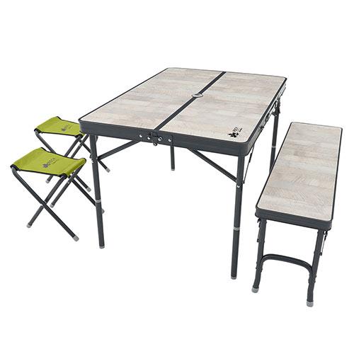 ロゴス LOGOS ROSY ファミリーベンチテーブルセット 73189057 4981325528614