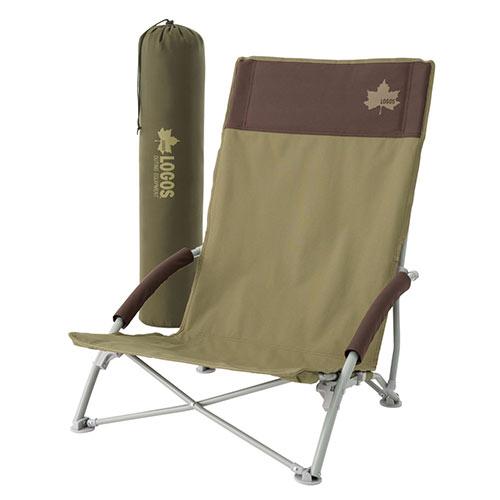 ロゴス LOGOS LOGOS Life ハイバックあぐらチェア プラス(ブラウン) 73173084 4981325528782 チェア イス 椅子