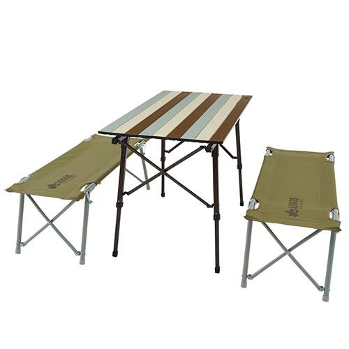 ロゴス LOGOS LOGOS Life オートレッグベンチテーブルセット4(ヴィンテージ) 73188002 4981325530525