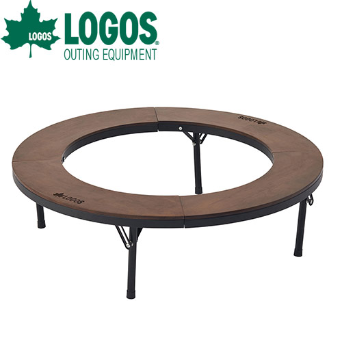 ロゴス(LOGOS) アイアンウッド囲炉裏サークルテーブルL 81064106 4981325531584