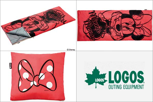 ロゴス(LOGOS) ミニーマウス お泊まりクッションシュラフ 86003651 寝袋 キャンプ・アウトドア用品[4981325177782]