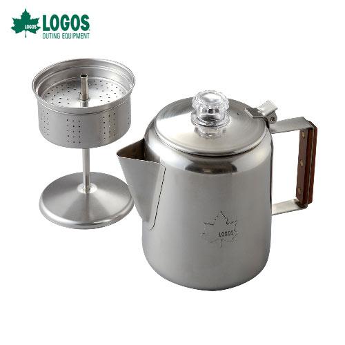 ロゴス(LOGOS) 81210300 LOGOSステンレスパーコレーター [6カップ分]自然の息吹と共に本格コーヒーを嗜む