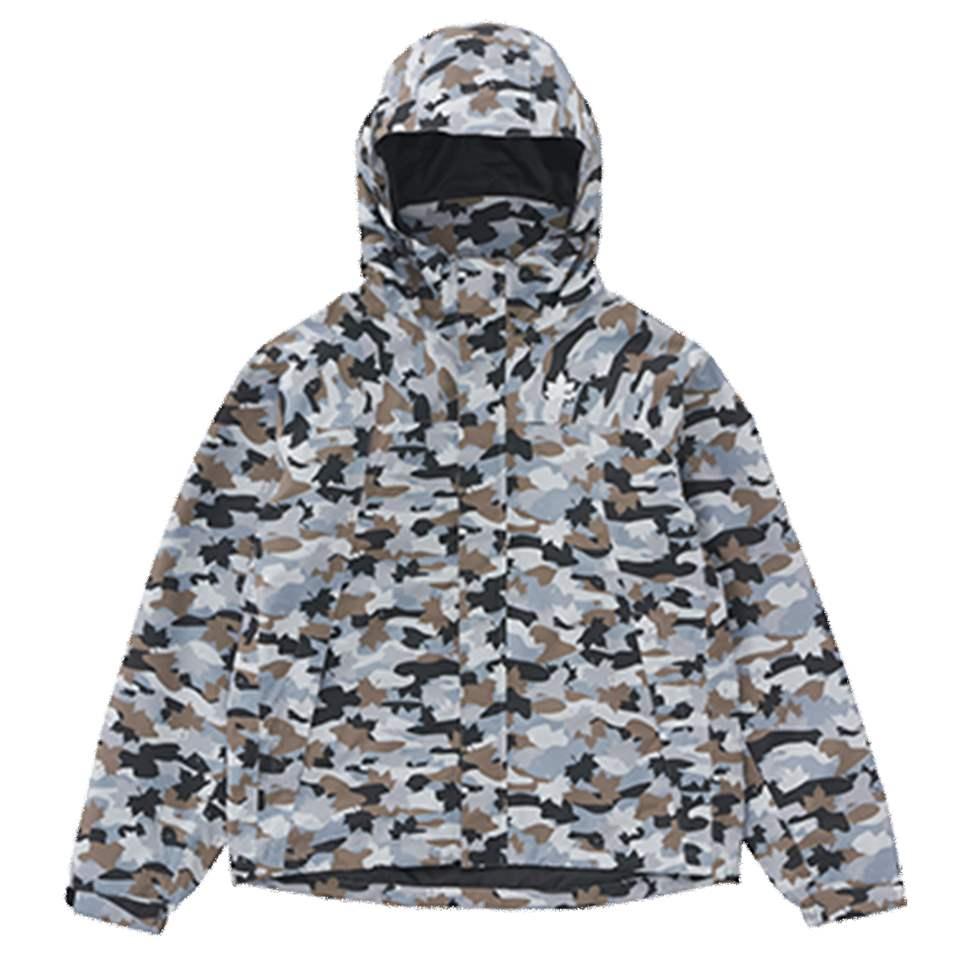 ロゴス LOGOS MEN'S ベネットカモ レインジャケット(カモフラ XL) 36701831 4981325545420 雨具 合羽 カッパ レインウェア WHATNOT