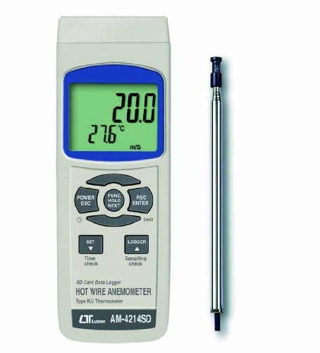 SDデータロガデジタル風速計[熱線式] AM-4214SD マザーツール