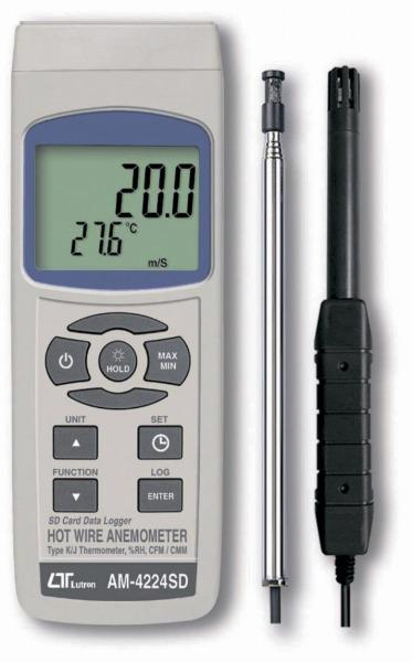 売れ筋商品 マザーツール AM-4224SD:WHATNOT デジタル風速・風量計[熱線式]-DIY・工具