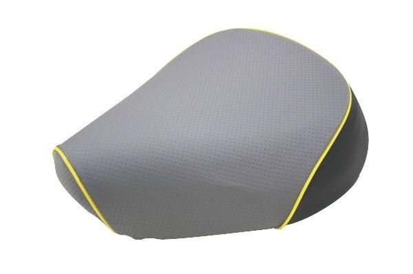 グロンドマン GRONDEMENT バイク シートカバー カワサキ kawasaki エンボスグレー/黄色パイピング 張替 バリオス[ZR250] GH79HC80P50