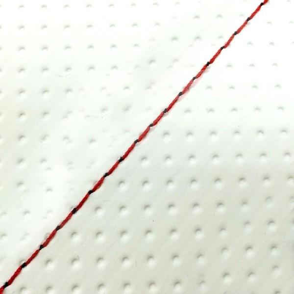 グロンドマン GRONDEMENT バイク シートカバー キムコ KYMCO エンボスホワイト/赤ステッチ 張替 スーナー50SS/Z/100ZZ