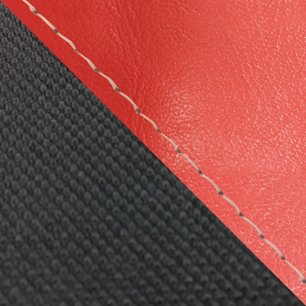 グロンドマン バイク シートカバー ホンダ HONDA 赤・スベラーヌブラック/透明ステッチ 被せ グロム