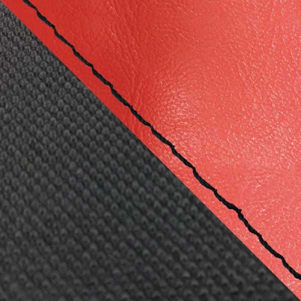 グロンドマン バイク シートカバー ホンダ HONDA 赤・スベラーヌブラック/黒ステッチ 張替 グロム
