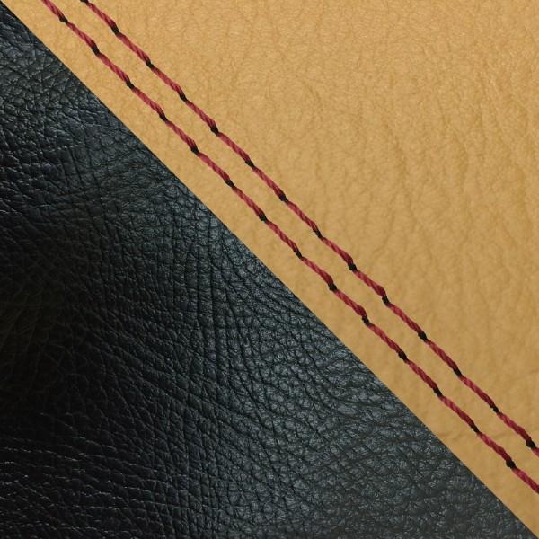 グロンドマン バイク シートカバー ホンダ HONDA 黄土色・黒/赤ダブルステッチ 張替 ダンク[AF74]