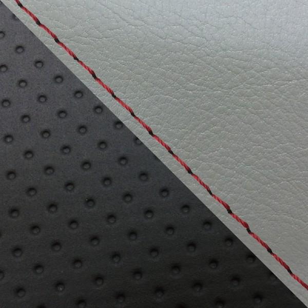 グロンドマン バイク シートカバー ホンダ HONDA ダークグレー・エンボス[黒]/赤ステッチ 張替 グロム