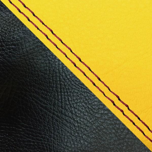 グロンドマン バイク シートカバー ホンダ HONDA イエロー・黒/赤ダブルステッチ 張替 ダンク[AF74]