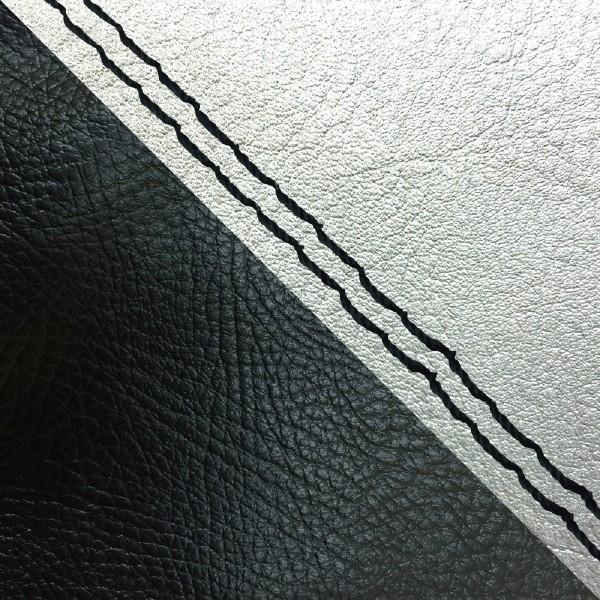 グロンドマン バイク シートカバー ホンダ HONDA シルバー・黒/黒ダブルステッチ 張替 ダンク[AF74]