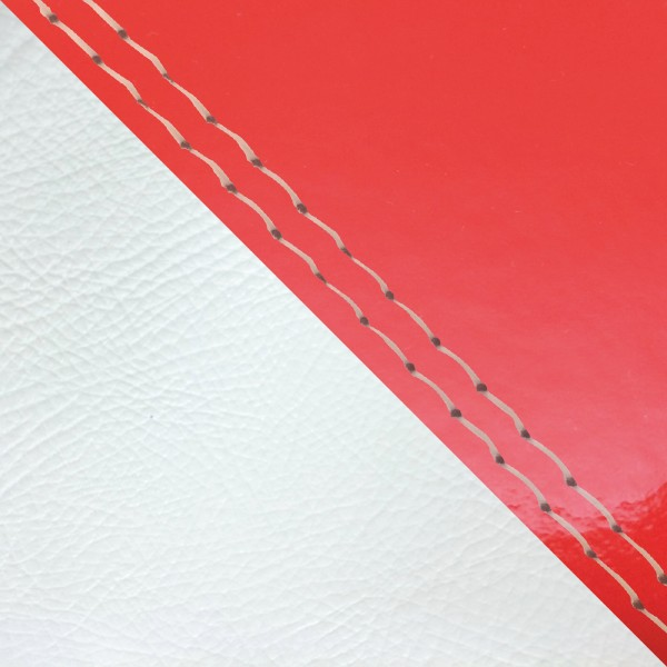 グロンドマン バイク シートカバー ホンダ HONDA エナメルレッド・白/透明ダブルステッチ 張替 ジュリオ[AF52]