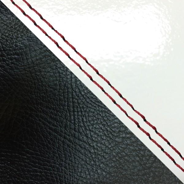 グロンドマン バイク シートカバー ホンダ HONDA エナメルホワイト・黒/赤ダブルステッチ 張替 ダンク[AF74]
