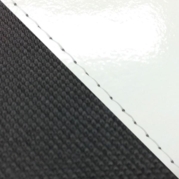 グロンドマン バイク シートカバー ホンダ HONDA エナメルホワイト・スベラーヌブラック/透明ステッチ 張替 グロム