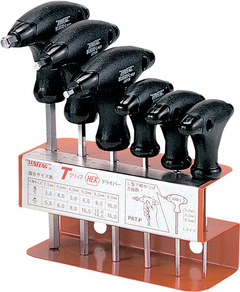 DIY工具からアウトドアブランド用品など多数商品取り扱い ドライバー SF 美品 日本正規代理店品 2.5ミリ #6500 Tグリップドライバー