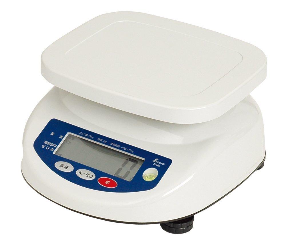 シンワ デジタル上皿はかり 6kg 70105