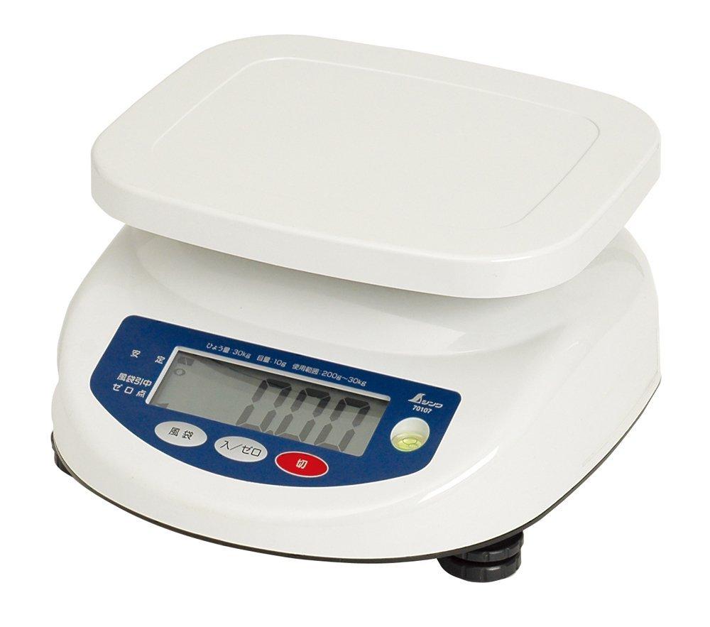 シンワ デジタル上皿はかり 30kg 70107