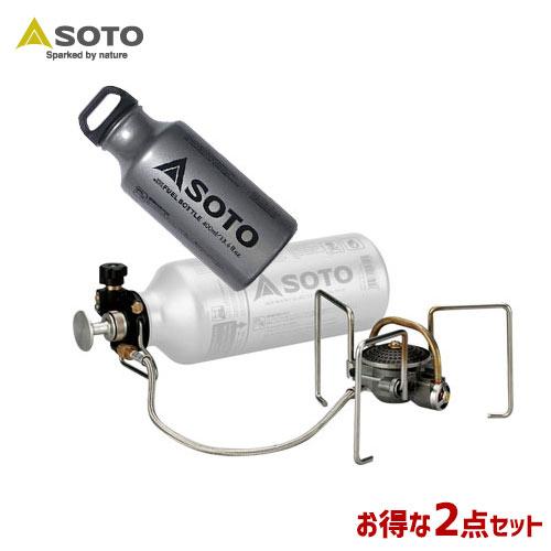 SOTO/ソト MUKAストーブ&フューエルボトル2点セット アウトドア・キャンプ用品 SOD-371 SOD-700-04