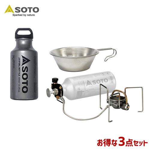 SOTO/ソト MUKAストーブ&フューエルボトル&シェラカップ3点セット アウトドア・キャンプ用品 SOD-371 SOD-700-04 ST-SC20